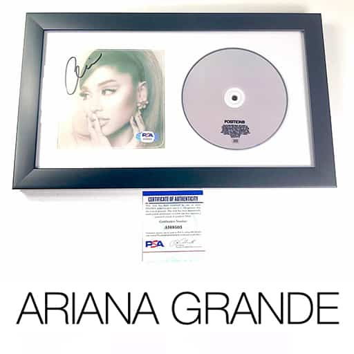 Ariana Grande Signed Album CD Cover Framed PSA/DNA Autographed