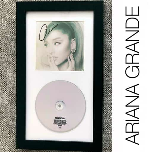 Ariana-Grande-My-EverythingAriana Grande Signed Autograph Positions Framed Cd Display